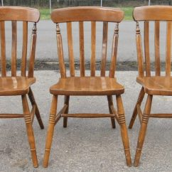 Windsor Kitchen Chairs Foldable Table And Argos Sold Set Of Three Beech Lathback